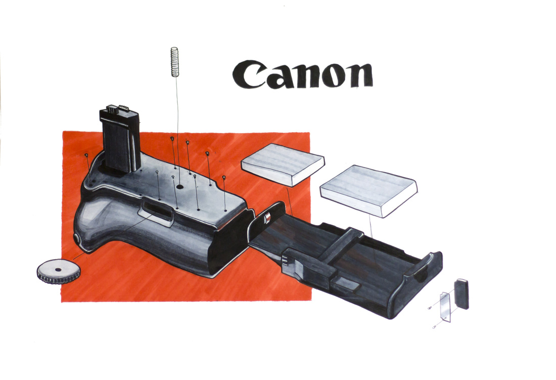 Canon battery grip marker drawing